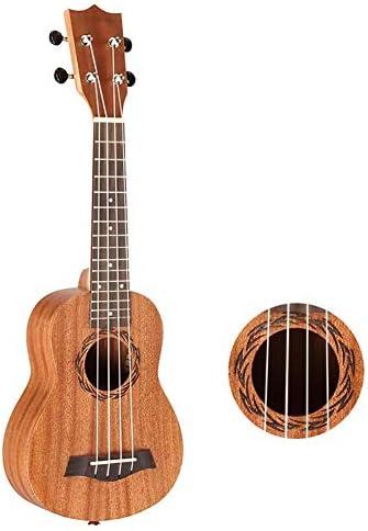 ZZRS 無料ハンドバッグ、ストラップおよびエントリーレベルのチュートリアルと21インチ23インチウクレレ、ナチュラルウッドウクレレ、ポータブル旅行初心者小型ギター、ウクレレ (Color : Wood)