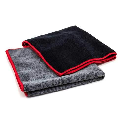 Towels by Doctor Joe Ultra-85 Charcoal Gray Super Plush 16″ x 27″ Microfiber Towel – 12 Pack