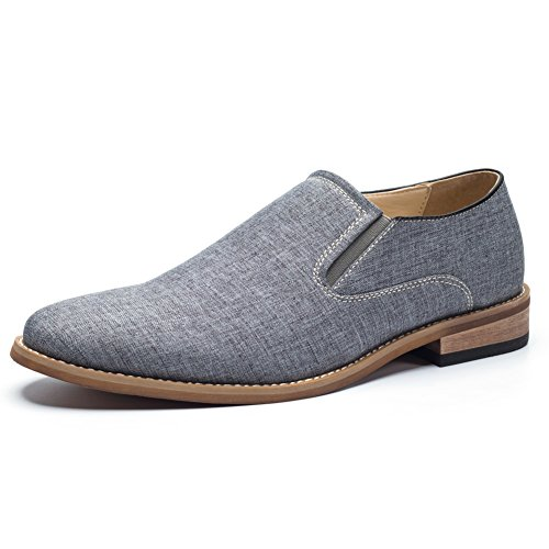GOLAIMAN Mens Casual Dress Shoes Slip on Dress Loafers Canvas Oxford Shoes