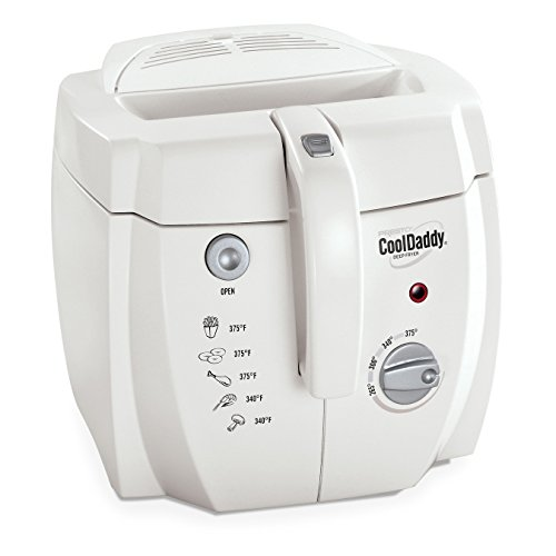 Presto 05443 CoolDaddy Cool-touch Deep Fryer - White