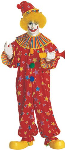 Rubie's Starburst Clown Costume, Red, One Size