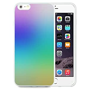 DIY TPU Phone Case Rainbow Gradient iOS7 Homescreen iPhone 6 Plus 5.5 inch Wallpaper in White