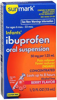 (Sunmark Sunmark Infants Ibuprofen Oral Suspension Drops Berry, Berry 0.5 oz)