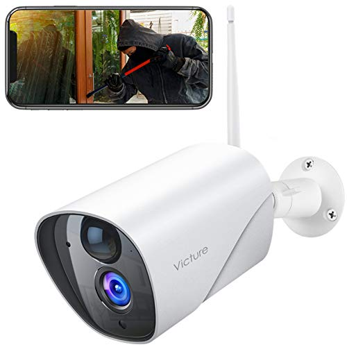Victure Security Outdoor Camera With PIR Passive Infrared Sensor, 1080P CCTV Camera System with Night Vision, Two Way…