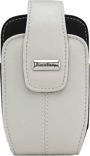 BlackBerry Leather Swivel Holster for BlackBerry Pearl White 8300, 8310, 8320, 8330 Blackberry Pearl Belt Clip