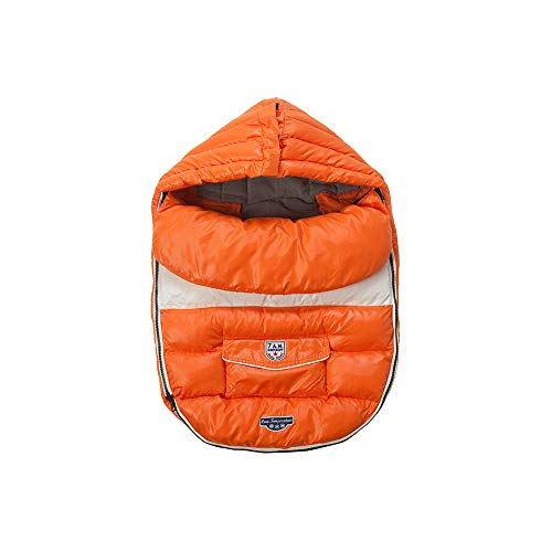 7AM Enfant Baby Shield Extendable Baby Bunting Bag Adaptable for Strollers, Orange Peel, Small