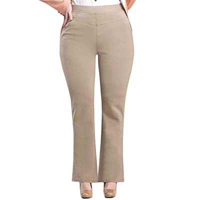 ABCWOO Women's Plus Size Dressy Work Pants for Office, Slimming and Stretchy at Women's Clothing store