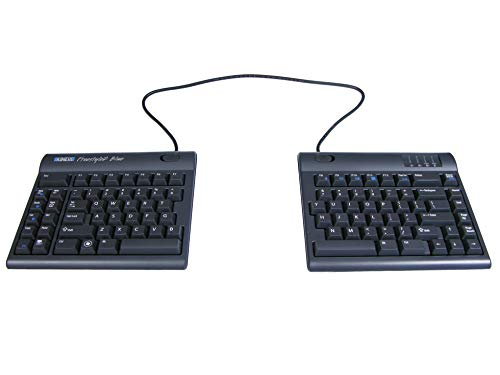 Kinesis Freestyle2 Blue Wireless Ergonomic Keyboard for PC (20 Extended Separation)
