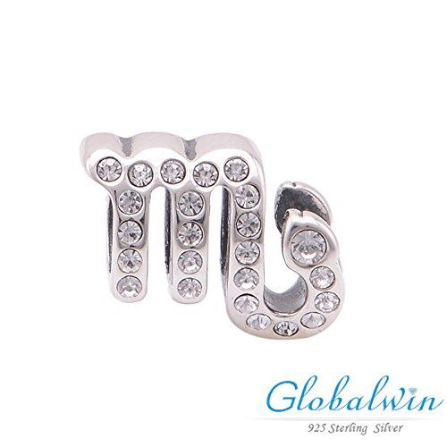 Us-DeSiGn Constellation Silver Beads The Scorpio Fit Original Bracelet European Silver Diy Cz Crystal Beads X321L