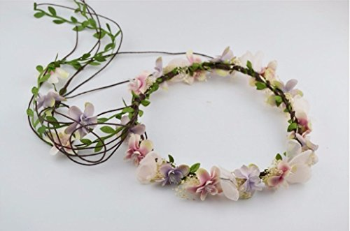Floral Fall BOHO Flower Crown Hair Wreath Headband: S19 (Wash Crown Mini)