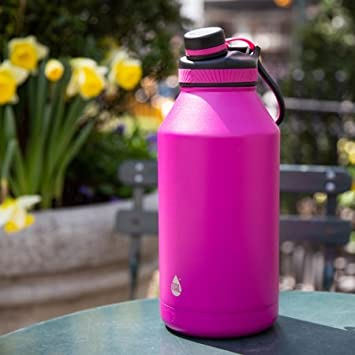 a79ce2f418 TAL Pink 64oz Double Wall Vacuum Insulated Stainless Steel Ranger Pro Water  Bottle: Amazon.co.uk: Sports & Outdoors