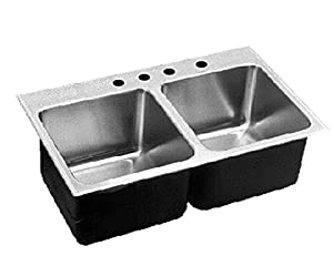 Just DLX-2233-A-GR-4 Deep Double Bowl 18-Gauge T-304 Stainless ...