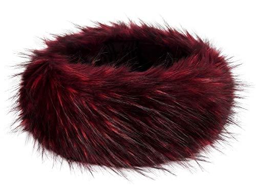 Futrzane Faux Fur Headband For Women Winter Earwarmer Earmuff Hat Ski (Bordo Jenot) by Futrzane