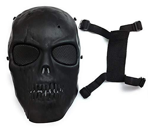 Masque de protection CS Masque de squelette crâne complet Airsoft Paintball de Airsoft Noir 5