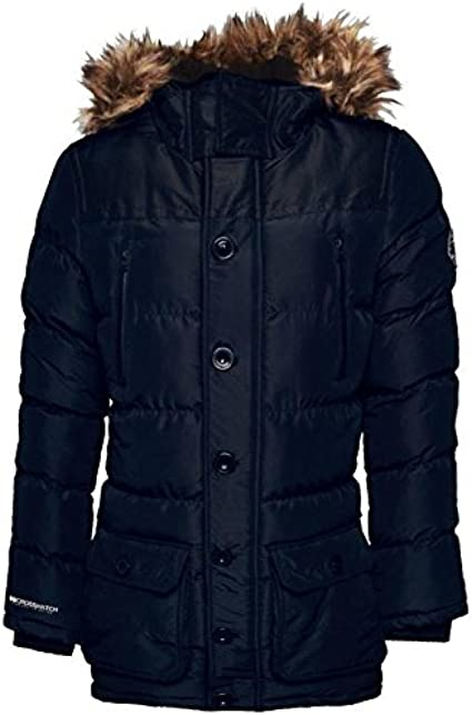 YUNY Men Casual Padded Hooded Thickened Quilted Coat Outwear Anorak Jacket Black 2XL