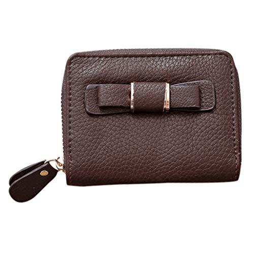 Fashion Mini Wallet Ladies Short Bow Clutch Bag Student Coin Purse Key Bag