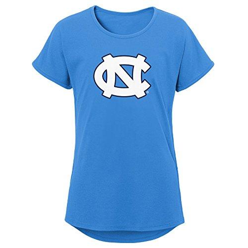 (Gen 2 Little NCAA Youth Girls Primary Logo Dolman Tee, Light Blue, Medium (10-12))