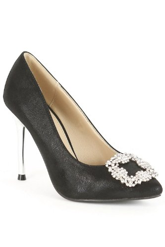 Go Tendance - Zapatos de vestir para mujer negro - negro