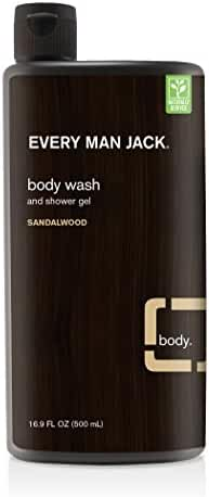 Every Man Jack Body Wash, Sandalwood, 16.9 Fluid Ounce