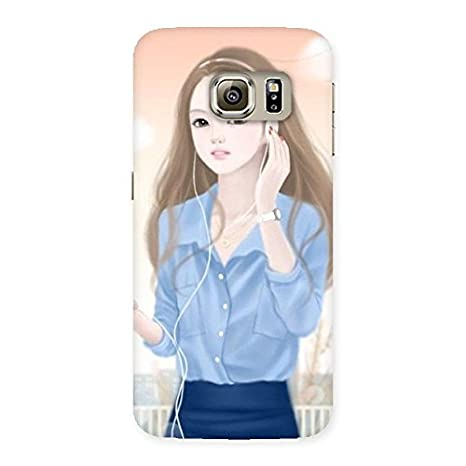 Beautiful Music Girl Back Case Cover for Samsung Galaxy