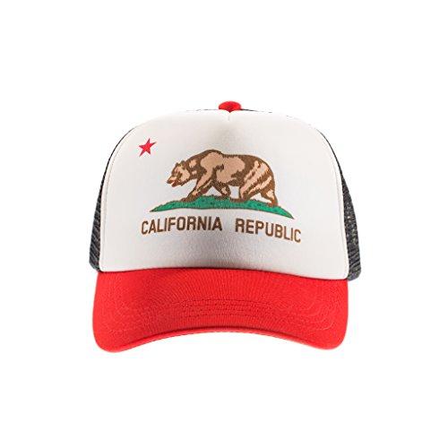 (Born to Love Baby Boy Infant Trucker Hat Snap Back Sun Mesh Baseball Cap (M), Cali Hat)