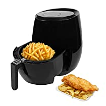 Air Fryer, Electric Hot Air Fryers Oven Oilless Cooker with LED Digital Screen, Temperature Control, Nonstick and Easily Detachable Frying Pot, 3.6 L, 1400W - Black