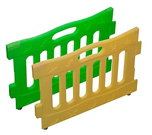 Baby Diego Playspot Playard Panel Extension Set, Yellow and Green