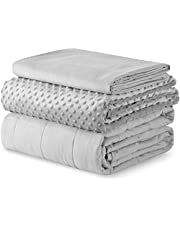 YnM Weighted Blanket — Warm Minky Material with Premium Glass Beads