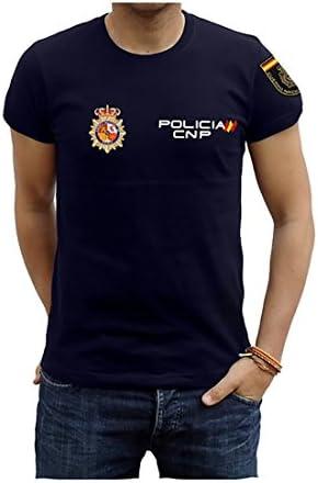 Piel Cabrera Camiseta de Policía Nacional: Amazon.es: Ropa y ...