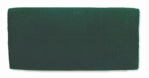 Mayatex San Juan Solid Saddle Blanket, Hunter Green, 36 x 34-Inch ()