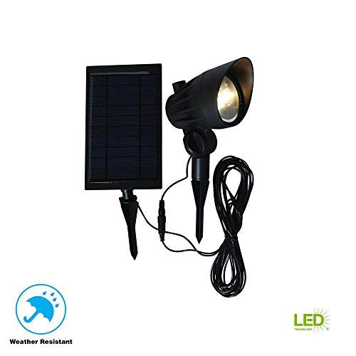 Hampton Bay Solar Black LED Outdoor Spotlight [並行輸入品] B07RB2D3H8