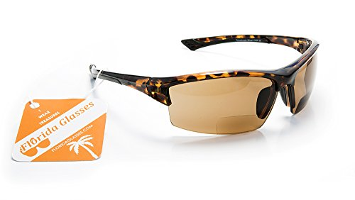 Superlight Bifocal Wraparound Sport Sunglasses and Reading Glasses in One by FLORIDA GLASSES® - And Sunglasses One Glasses In