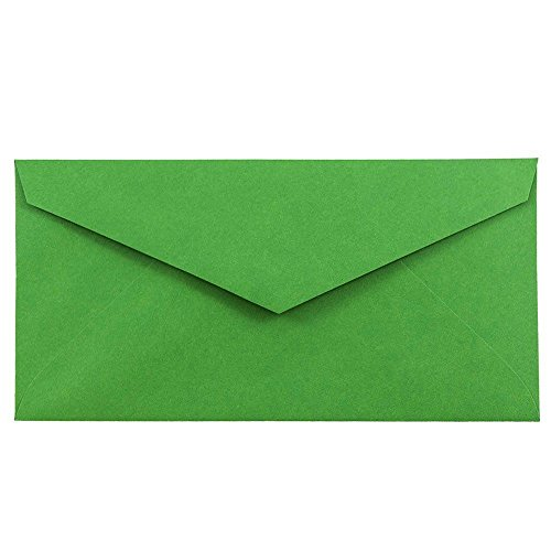 JAM PAPER Monarch Colored Envelopes - 3 7/8 x 7 1/2 - Green Recycled - Bulk 1000/Carton