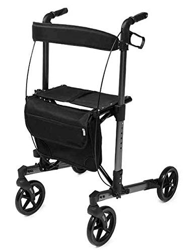 Lumex Walkabout Allura LX Rollator Walker (Black, Tall)