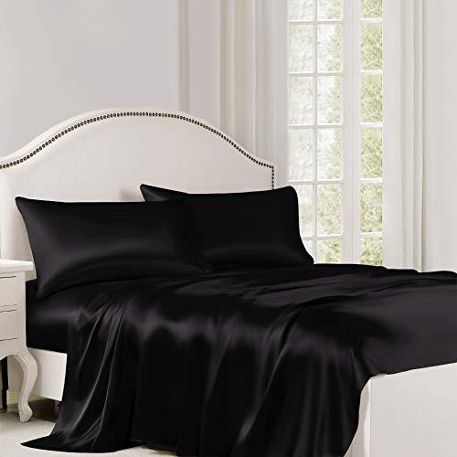 ElleSilk Pure Silk Flat Sheet, Silk Sheet, Premium Quality 100% Mulberry...