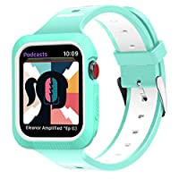 BRG Compatible for Apple Watch Band 38mm 40mm 42mm 44mm Series 4 3 2 1 with case,Women Men Soft Silicone Bands with Shockproof Case for iWatch Bands