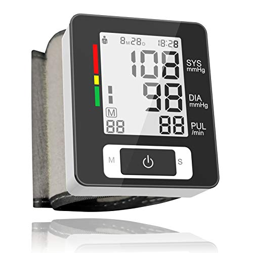 Wrist Blood Pressure Monitor, 2-User, 90 Readings Memory, LCD Large Screen, Digital Home Blood Pressure Machine with Clinically Accurate & Fast Reading - FDA Approved - Lcd Screen Care