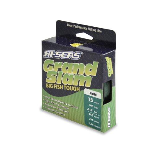 Hi-Seas Grand Slam Monofilament Line, 15 Pound Test, Green, 300-Yard