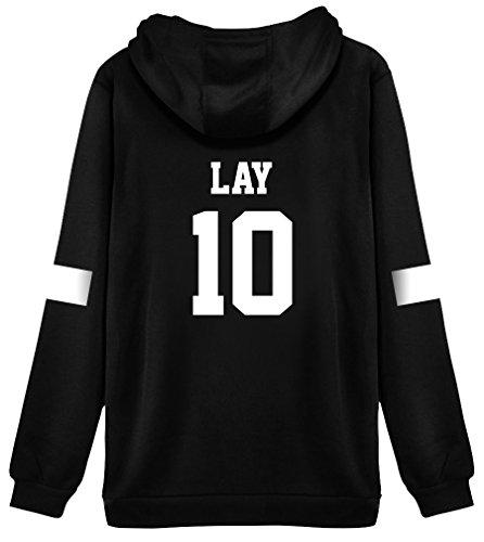 Kpop EXO Hoodie Sweater Lay Jacket Pullover