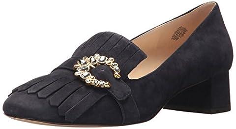 Nine West Women's Wadley Suede Pump, Navy, 7.5 M US - Blue Suede Pump Shoes