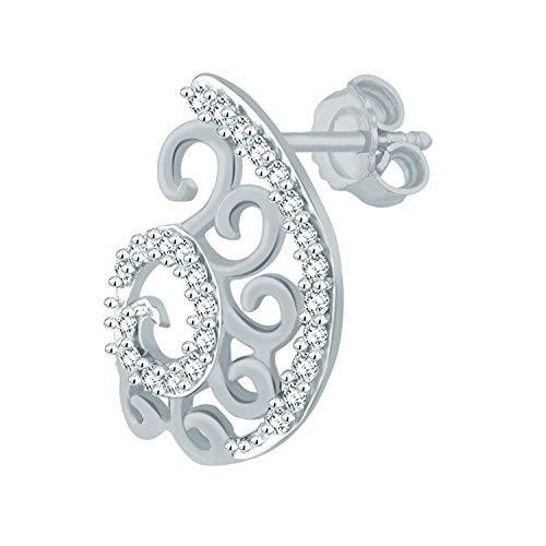 Giantti Diamant Pendentif Femme Collier (0.236CT, qualité HSI, Gh-colour)