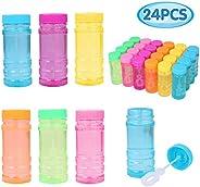 YouCute Bubbles 2oz 24 Pack Party Favor for Kids Bulk Bubble Solution Blowing Wand 2 Dozen Party Supplies Outd