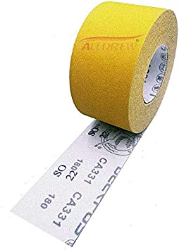 75mm Hook and Loop Sandpaper Roll Sanding Strips 5 Meters Roll GRIT 180