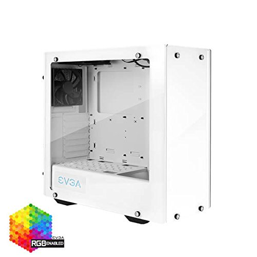 EVGA DG-77 Alpine White Mid-Tower, 3 Sides of Tempered Glass, Vertical GPU Mount, RGB LED and Control Board, K-Boost, Gaming Case 176-W1-3542-KR - Drive Cooler Kit Hard