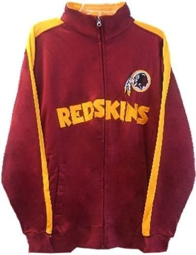 Washington Redskins NFL End Zone Full Zip Mens Track Jacket Big & Tall Sizes (LT)