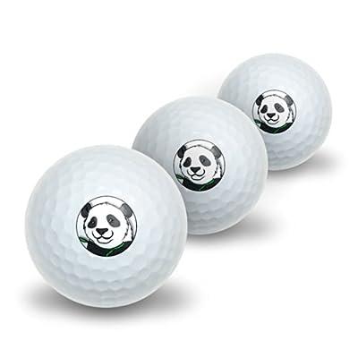 Panda Bear Novelty Golf Balls 3 Pack