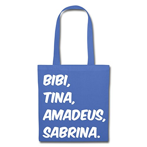 Spreadshirt Bibi Und Tina Amadeus Sabrina Typographie Stoffbeutel Hellblau