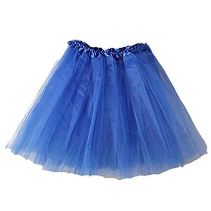 Tefamore Tutu Falda de Mujer Falda de Tul 50s Short Ballet 3 ...