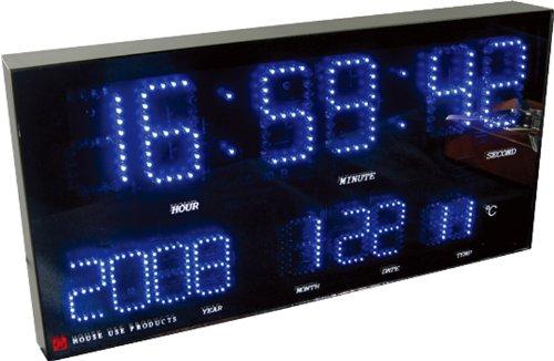 HOUSE USE PRODUCTS(ハウスユーズプロダクツ) LED 時計 FROST ブルー ACL036 [正規代理店品] B00426BWVY ブルー/ブラック ブルー/ブラック