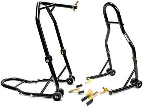 Venom Motorcycle Front+Rear Headlift Dual Lift Stand For Buell S1//S2//Lightning//Thunderbolt
